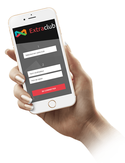 Smartphone Gestion et fidélisation des membres - Home Extraclub