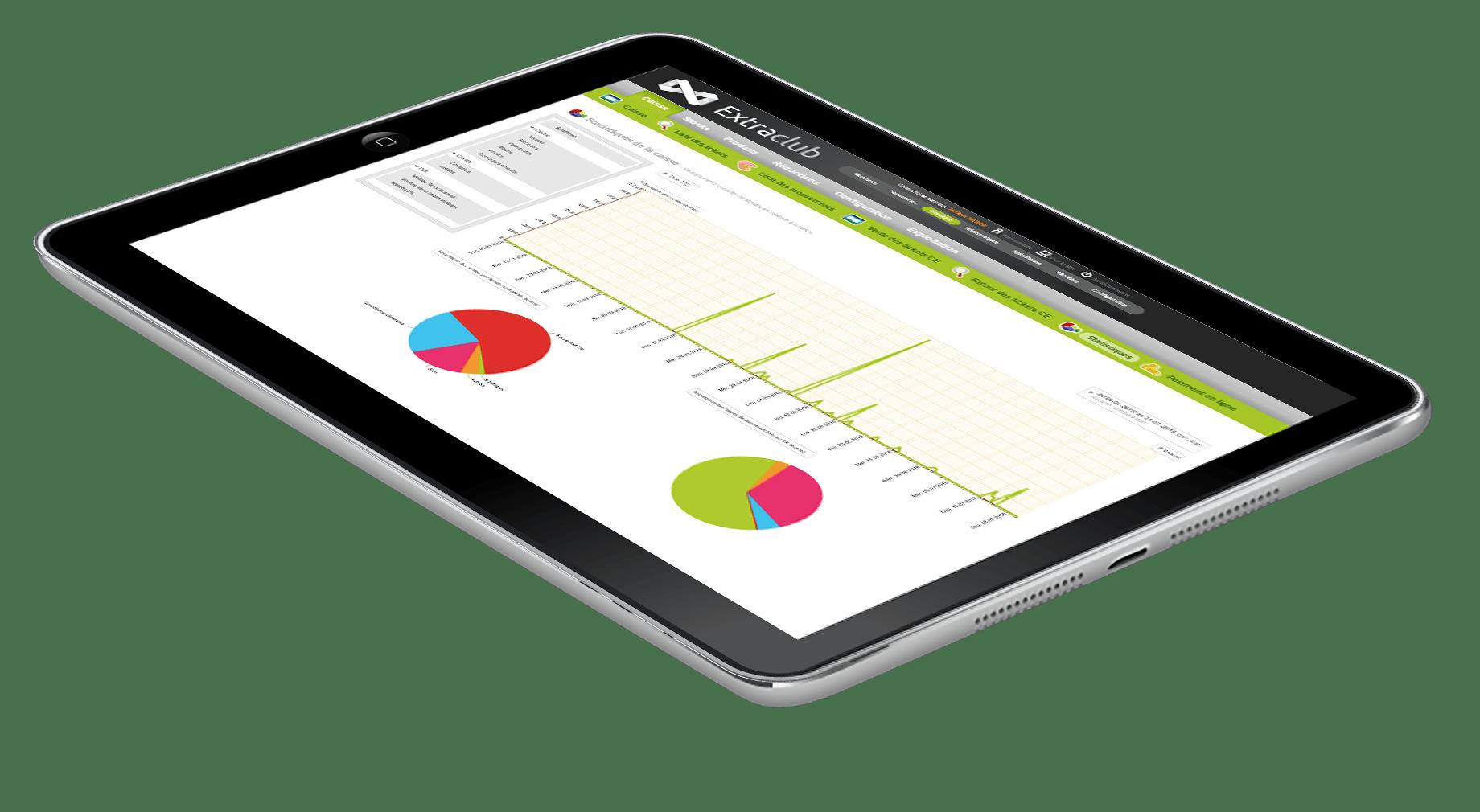 Découvrir ExtraClub le logiciel de gestion de club de sport du groupe StadLine - Ventes et encaissements